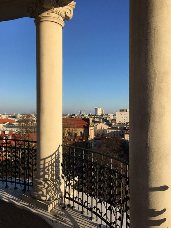 """Widok z glorietty wieńczącej Hotel Bristol"""", fot. Paweł Wroński"""