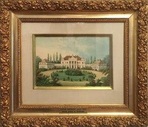 Widok pałacu około 1830 roku (gwasz, autor nieznany), fot. Paweł Wroński