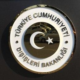 Ankara, znak Ministerstwa Spraw Zagranicznych Republiki Turcji, fot. Paweł Wroński