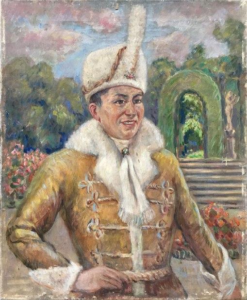 Józe Sendecki, autoportret w stroju scenicznym [bez ramy], fot. Paweł Wroński