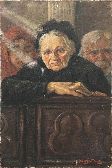 Józef Sendecki - babka malarza Rozalia [bez ramy], fot. Paweł Wroński