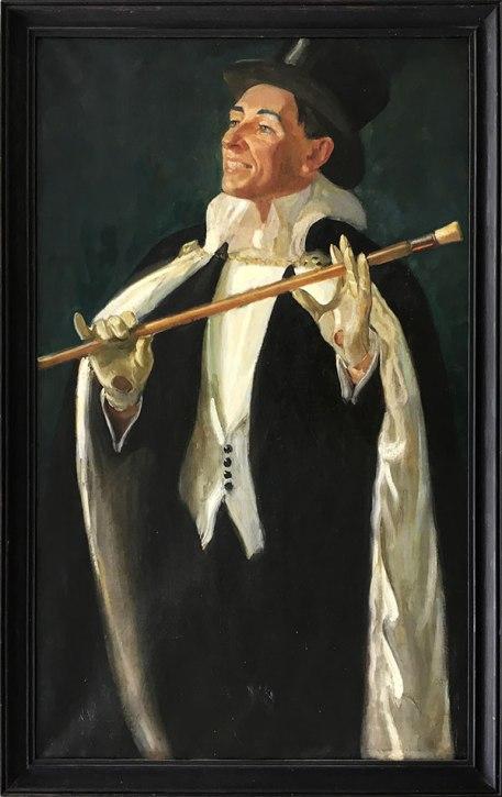 Józef Sendecki na scenie, autoportret (fragment obrazu wykorzystałem jako otwarcie materiału), fot. Paweł Wroński