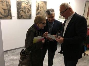 Trochę wspomnień, dotyczących działalności Wolskiej Integracji Artystycznej, w której Miron i widoczny na zdjęciu (po środku) Jerzy Lassota byli założycielami i aktywnymi uczestnikami, fot. Paweł Wroński