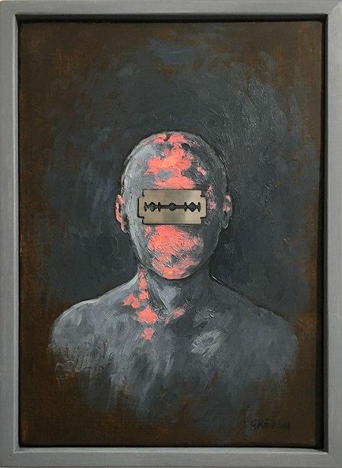 """Zbigniew Gręziak, """"Autoportret"""" 2018, fot. Paweł Wroński"""