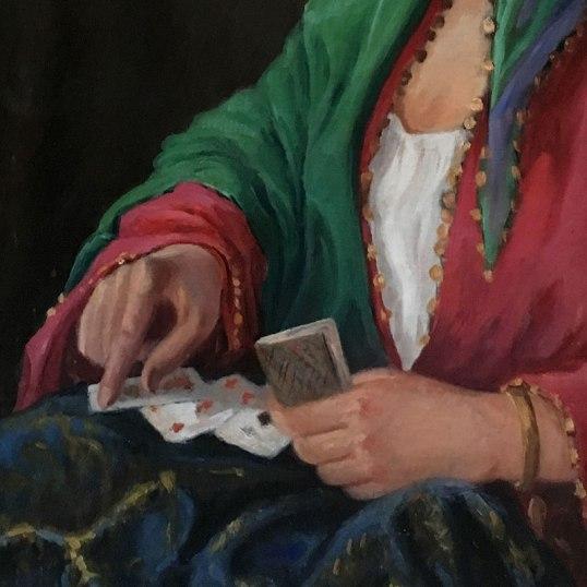 Autoportret w stroju scenicznej Cyganki - zbliżenie na ręce, fot. Paweł Wroński