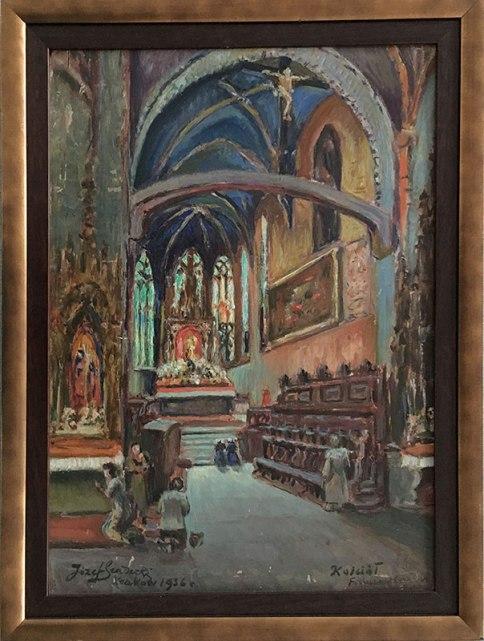 Józef Sendecki, Kraków 1936, kościół franciszkanów, fot. Paweł Wroński