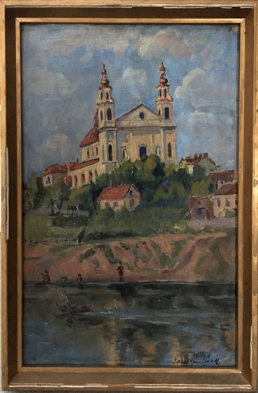 Józef Sendecki, Wilno (obraz niedatowany), fot. Paweł Wroński