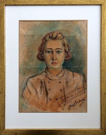 Szkic portretowy córki z dnia 8 maja 1945, w którym zakończyła się II wojna światowa, fot. Paweł Wroński