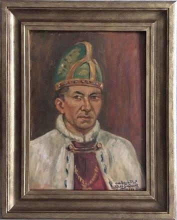 Józef Sendecki, autoportret w stroju Doży Weneckiego, fot. Paweł Wroński