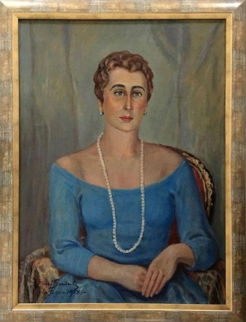Portret córki namalowany przez Sendeckiego w 1958 roku, fot. Paweł Wroński