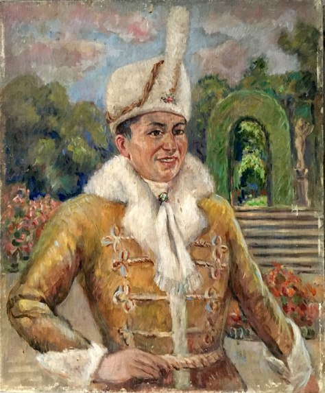 """Józef Sendecki w stroju Żupana z operetki """"Hrabina Marica"""", Poznań, 1929 rok, fot. Paweł Wroński"""