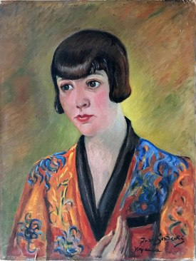 Józef Sendecki, portret śpiewaczki Janiny Sokołowskiej, 1925 rok, fot. Paweł Wróński