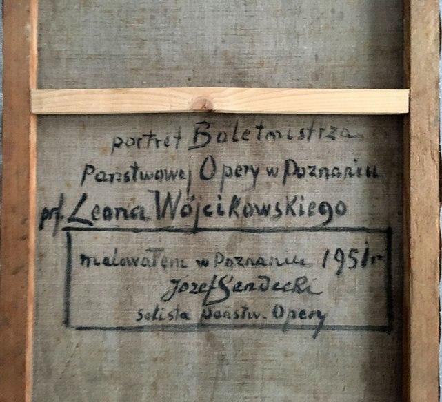 Precyzyjny opis, jakim opatrzył Sendecki swoje dzieło na odwrocie, fot. Paweł Wroński