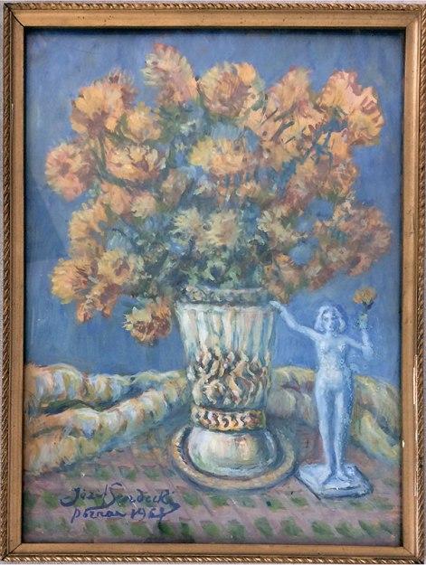 Obraz prezentem Sendeckiego dla Judello Zacharskiego - rok 1967, fot. Paweł Wroński