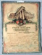Dyplom z okazji 50-lecia pracy scenicznej (1954 rok), fot. Paweł Wroński
