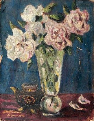 Józef Sendecki, Kwiaty w wazonie (1960), fot. Paweł Wroński