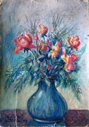 Józef Sendecki, Kwiaty w wazonie, (1959), fot. Paweł Wroński
