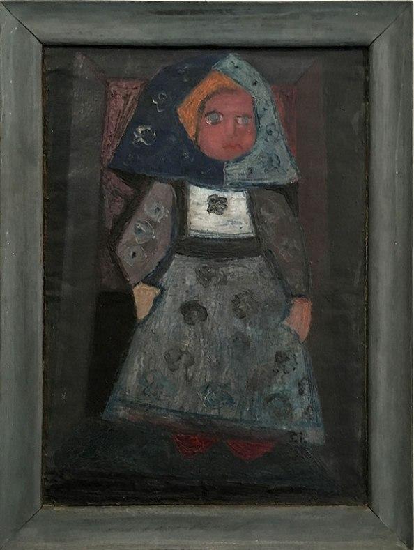 Pierwsi Barbakańczycy (Jan Naliwajko, Kobieta w stroju ludowym) - wystawa w Skarbnicy Sztuki i Wolskim Centrum Kultury, fot. Paweł Wroński