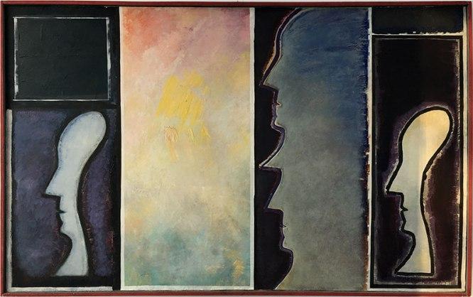 Pierwsi Barbakańczycy (Jerzy Lassota, Głowy w przestrzeni, 1981) - wystawa w Skarbnicy Sztuki i Wolskim Centrum Kultury, fot. Paweł Wroński