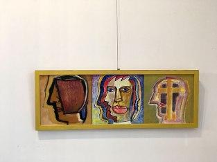 Pierwsi Barbakańczycy (Trzy głowy, 2016) - wystawa w Skarbnicy Sztuki i Wolskim Centrum Kultury, fot. Paweł Wroński