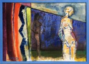 """Wystawa w Muzeum Warszawskiej Pragi, """"Z Melliny Sztuki: Jerzy Lassota"""" (Scena w plenerze, 2012), fot. Paweł Wroński"""