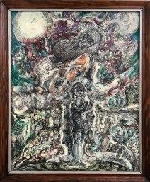 Zdzisław Lachur, tempera (bez tytułu) - alegoria, w iście ikonowym stylu, fot. Paweł Wroński