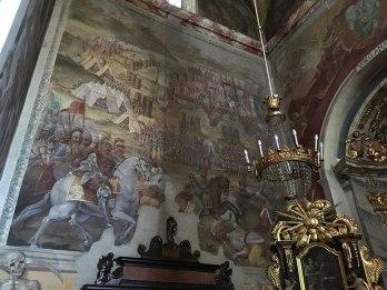 Wiktoria wiedeńska króla Jana III Sobieskiego - barokowa polichromia świątyni, fot. Paweł Wroński