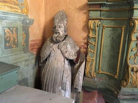 Święty w starym kościele w Sulisłąwicach, fot. Paweł Wroński