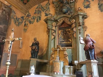 Kopia cudownego obrazu Misericordia Domini w starym kościele w Sulisławicach, fot. Paweł Wroński