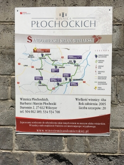Poglądowa mapa Sandomierskiego Szlaku Winiarskiego, fot. Paweł Wroński