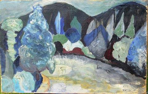 Tadeusz Chyła - Pejzaż niebieski (Archiwum Fundacji Skarbnica Sztuki)