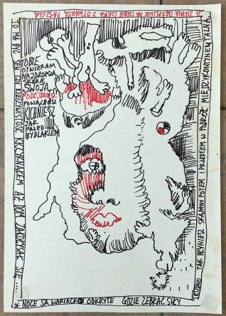 Rysunek - komiks znaleziony wśród rodzinnych pamiątek, fot. Paweł Wroński