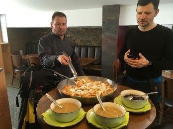 Lunch w Pano-Lounge w See im Paznauntal, fot. Paweł Wroński