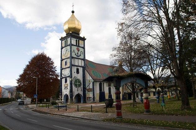 Jedno z dzieł Hundertwassera - kościół w Bärnbach, fot. Paweł Wroński