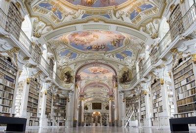 Admont - biblioteka opactwa, fot. Paweł Wroński