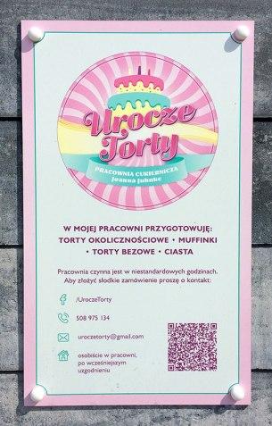 Tablica informacyjna przy Uroczej 2, fot. Paweł Wroński