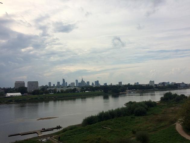 Widok na Wisłę i warszawski Manhattan, fot. Paweł Wroński