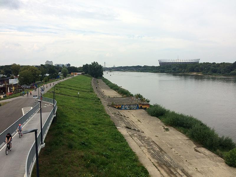 Dolina Wisły, widok z Mostu Łazienkowskiego ku północy, fot. Paweł Wroński