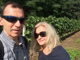 Selfie na pożegnanie winorośli, fot. Paweł Wroński