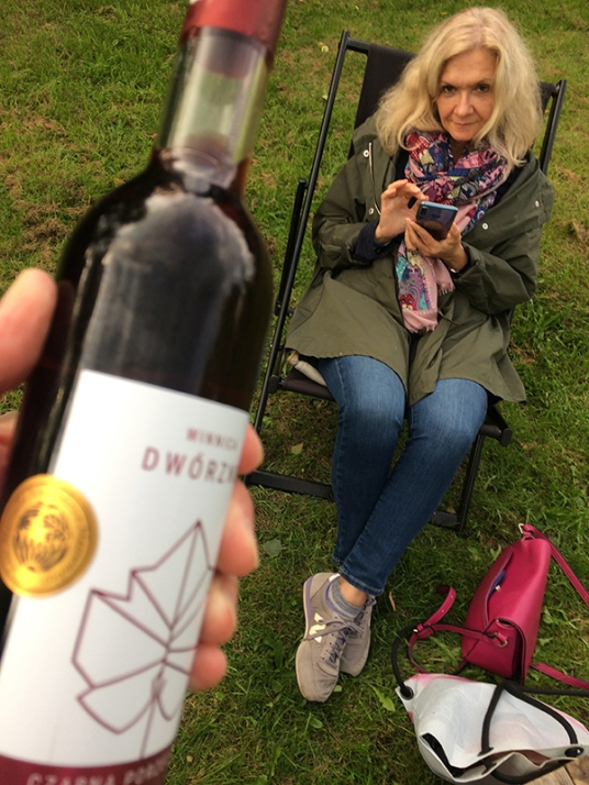 Na pożegnanie - butelka nagrodzonego wina owocowego, fot. Paweł Wroński