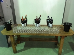 Do degustacji przygotowano białe wino Solaris, czerwony kupaż z różnych szczepów i - na deser - wino owocowe z jagód kamczackich, fot. Paweł Wroński