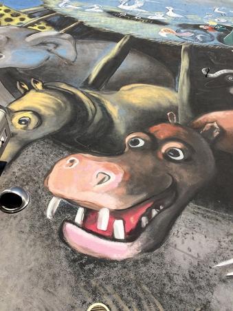 Mural projektu Józefa Wilkonia w Piasecznie, fot. Paweł Wroński